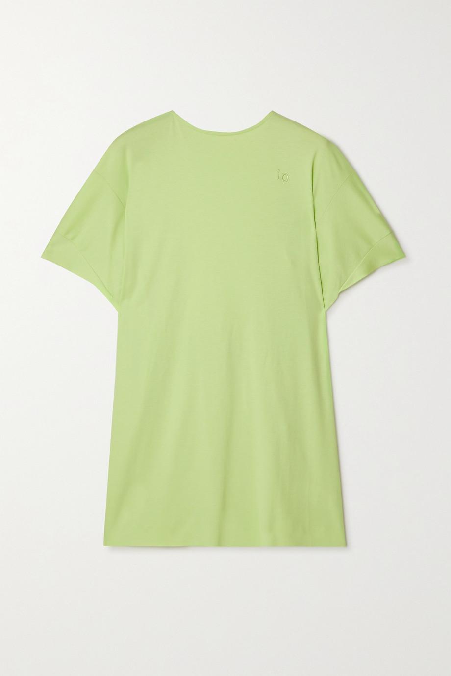 ioannes T-shirt dos ouvert en jersey de coton à broderies Camilla