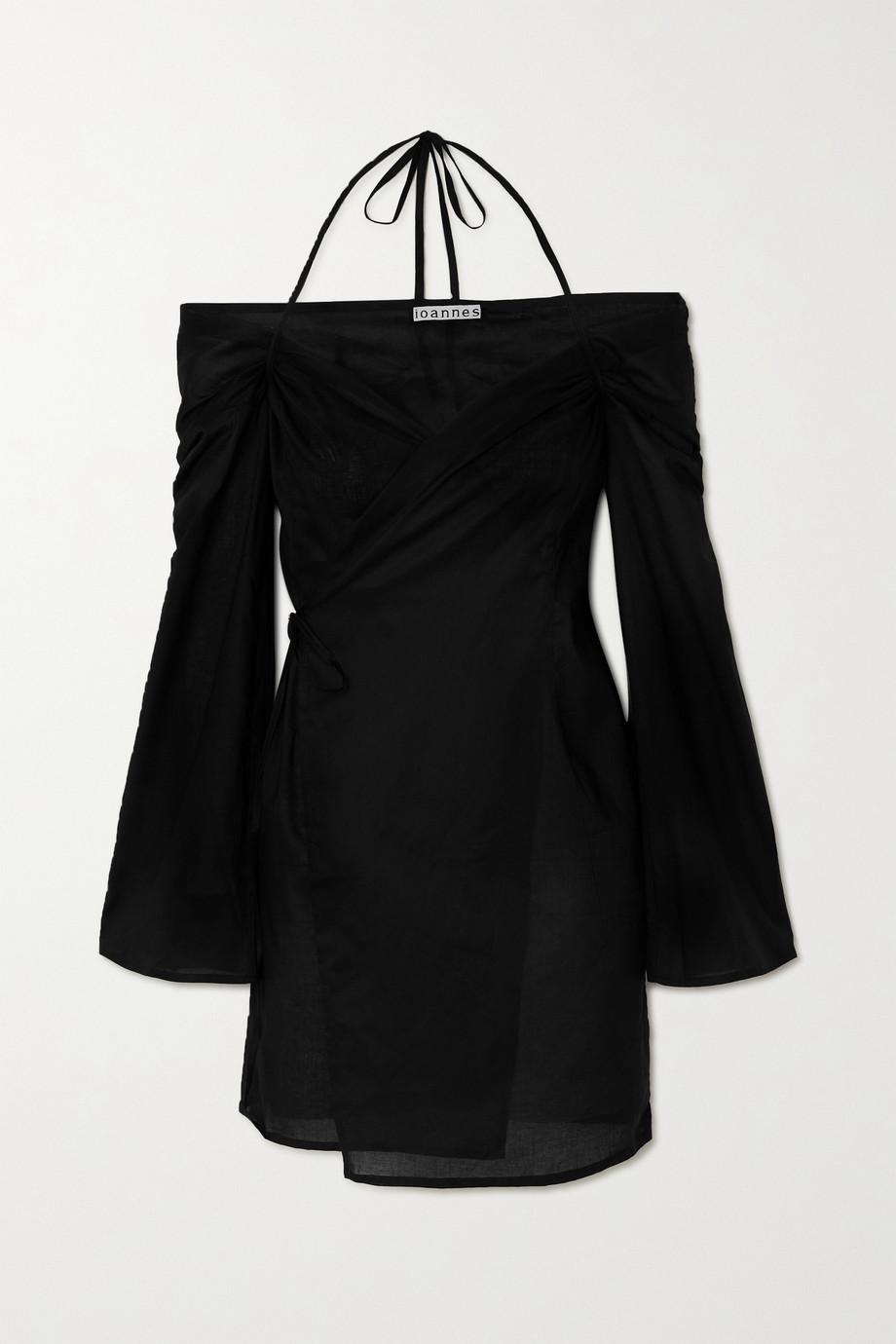 ioannes Robe portefeuille épaules nues en coton Romeo