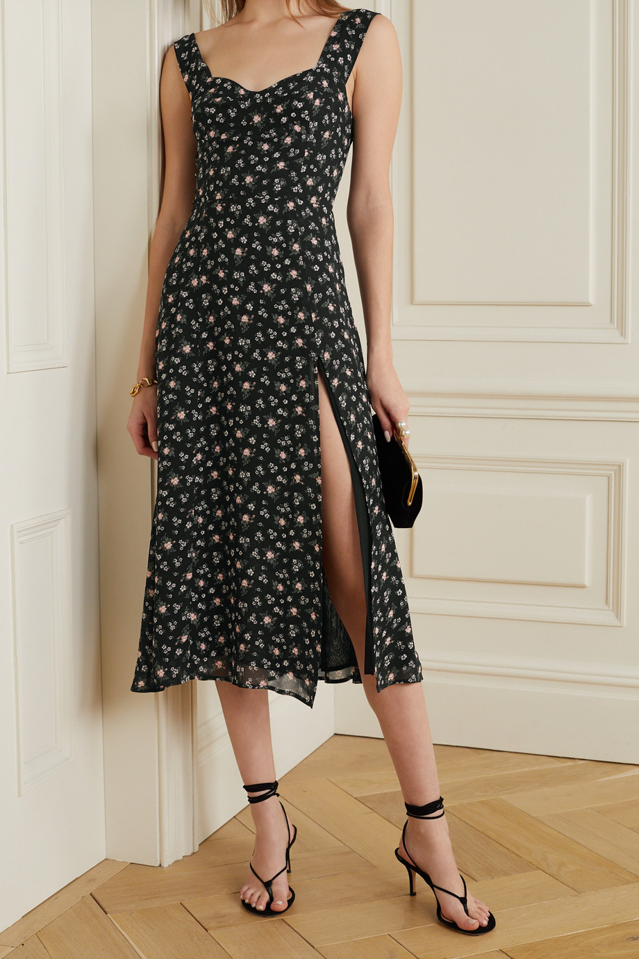 Reformation Fulton floral-print georgette midi dress