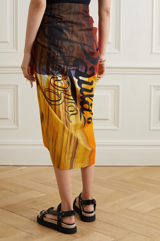 Loewe + Paula's Ibiza Sunset frayed printed cotton-voile pareo