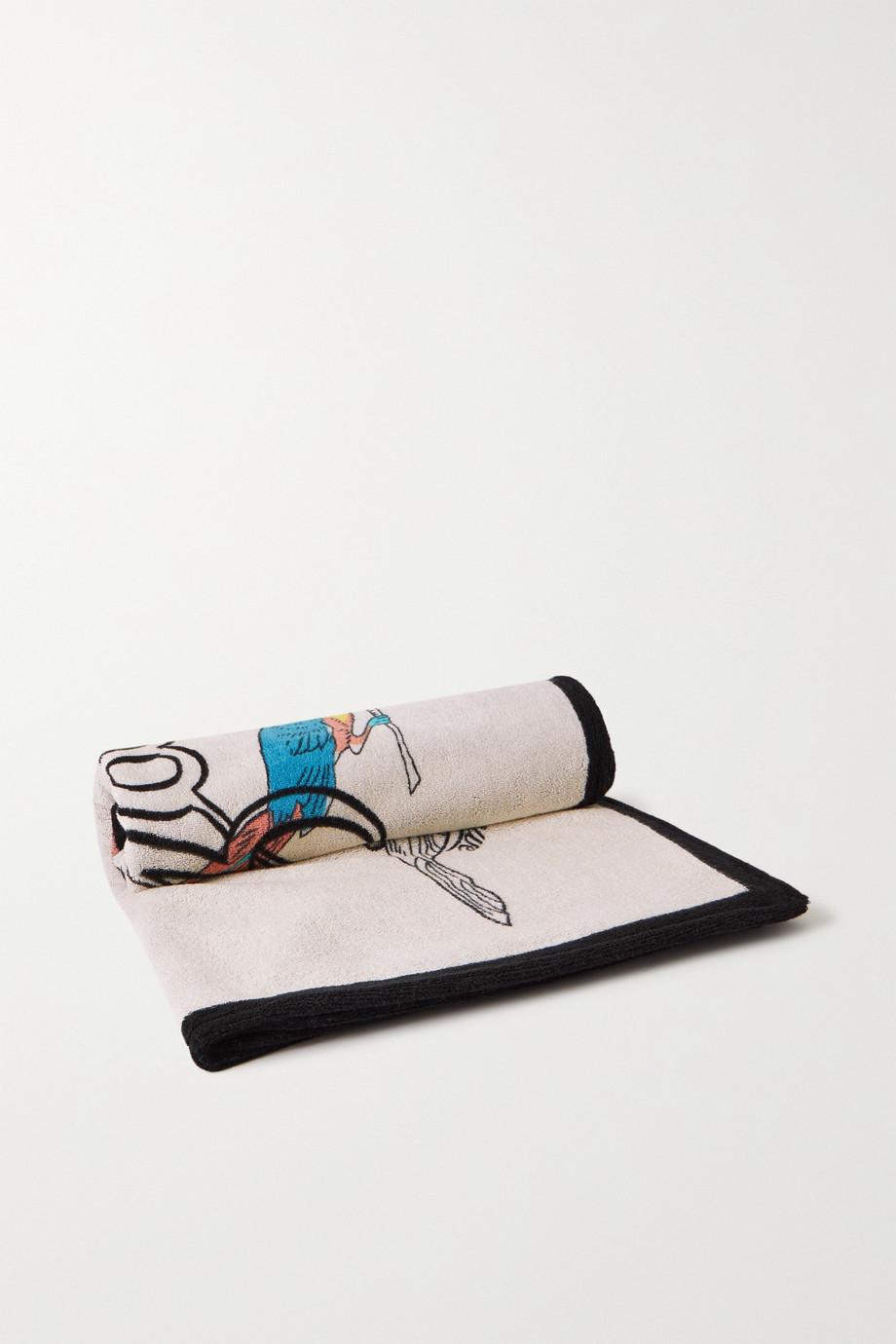 Loewe + Paula's Ibiza printed cotton-terry towel