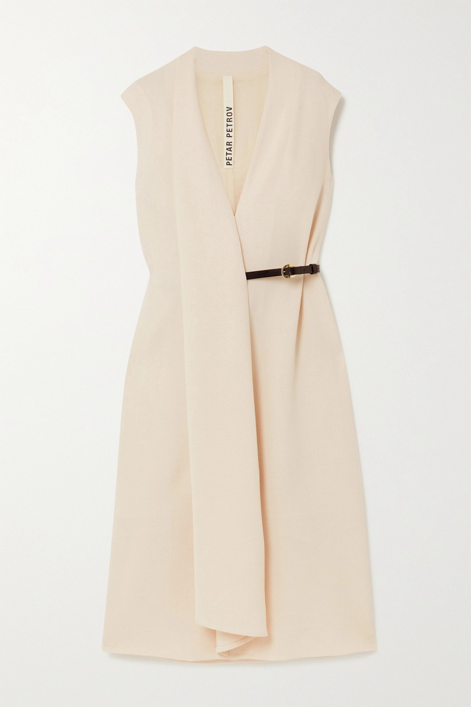Petar Petrov Alen belted wool-crepe midi dress