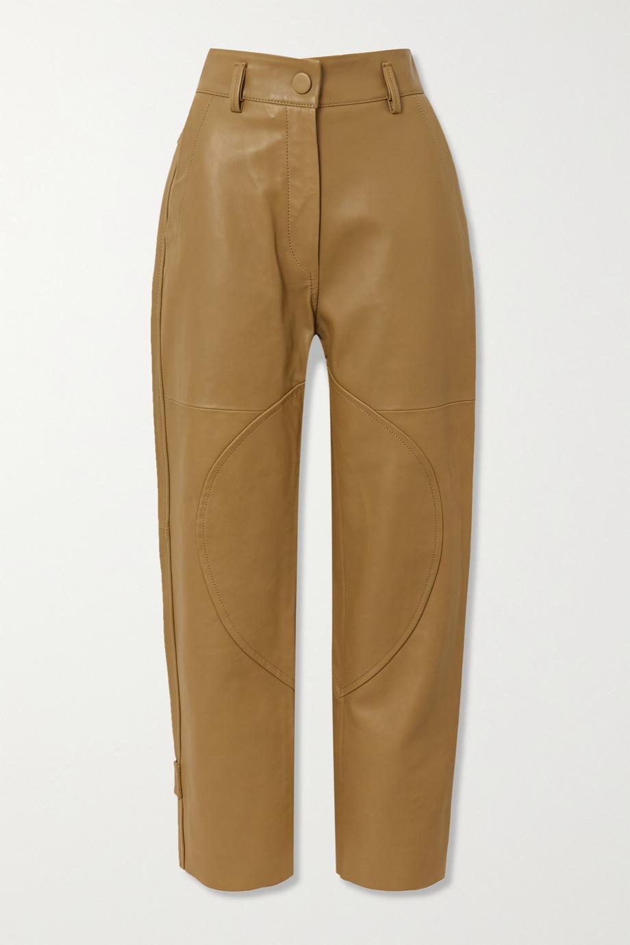 Petar Petrov Hunter leather straight-leg pants