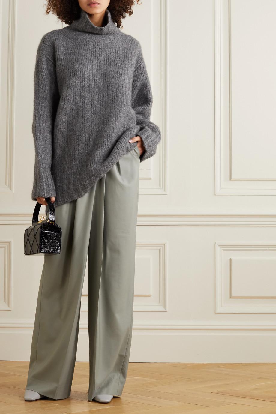 Petar Petrov Hope pleated merino wool wide-leg pants
