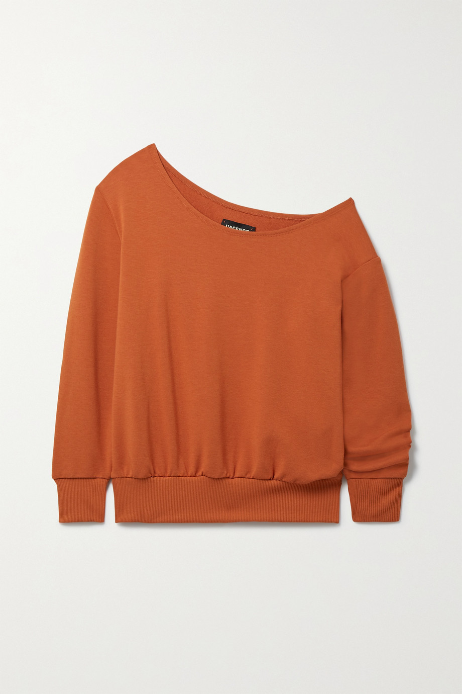 L'Agence Kimora one-shoulder stretch cotton and modal-blend sweatshirt