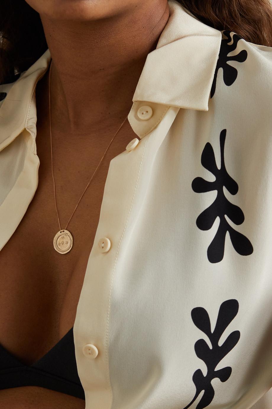 Pascale Monvoisin Idaho N°1 9-karat yellow and rose gold diamond necklace