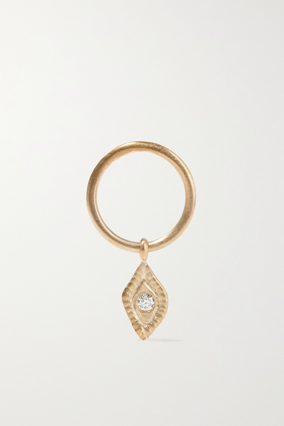 Pascale Monvoisin Souad N°1 einzelner Ohrring aus 9 Karat Gold mit Diamant