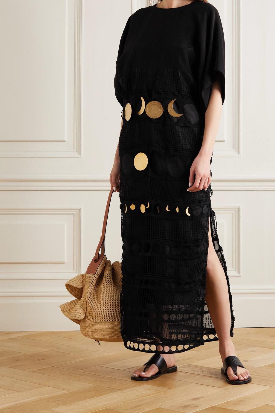 Loewe Robe en popeline et en coton crocheté à ornements x Paula's Ibiza