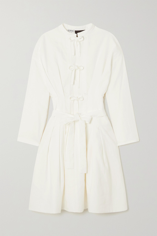 Loewe Linen and cotton-blend mini dress