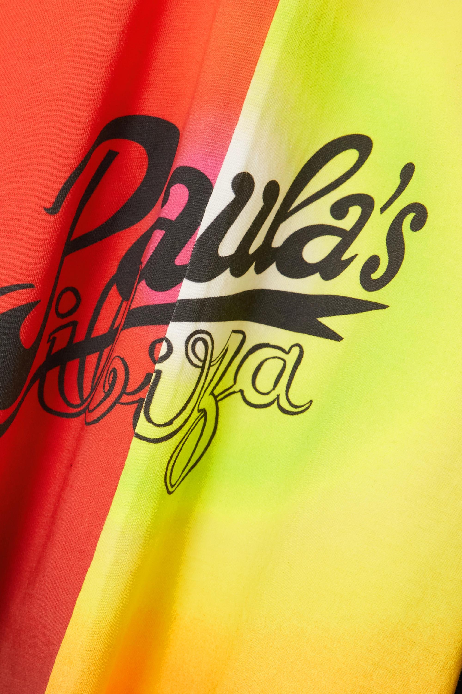 Loewe + Paula's Ibiza Sunset ruched printed cotton-jersey dress