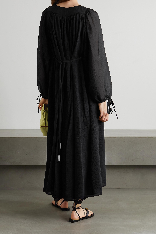 Loewe + Paula's Ibiza cotton and silk-blend crepon maxi dress