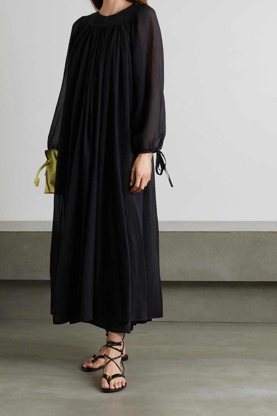 Loewe Robe longue en crépon de coton et de soie mélangés x Paula's Ibiza
