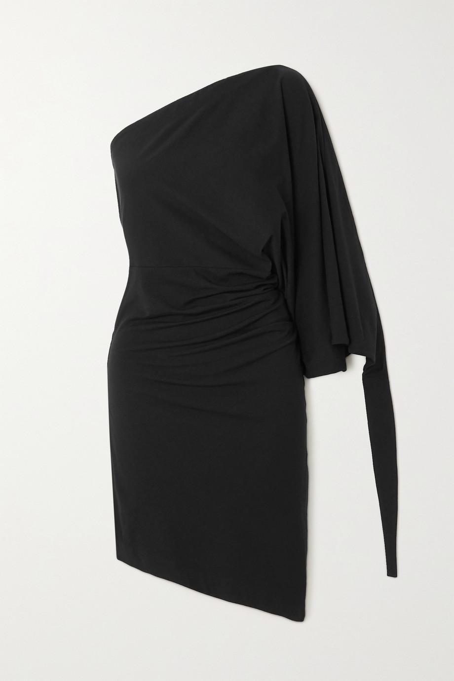 Loewe Robe asymétrique en coton stretch et en jersey de modal mélangé