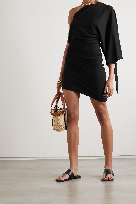 Loewe Asymmetric stretch-cotton and modal-blend jersey dress