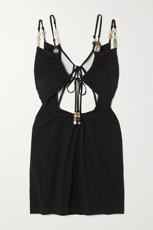 Loewe Embellished stretch-jersey mini dress