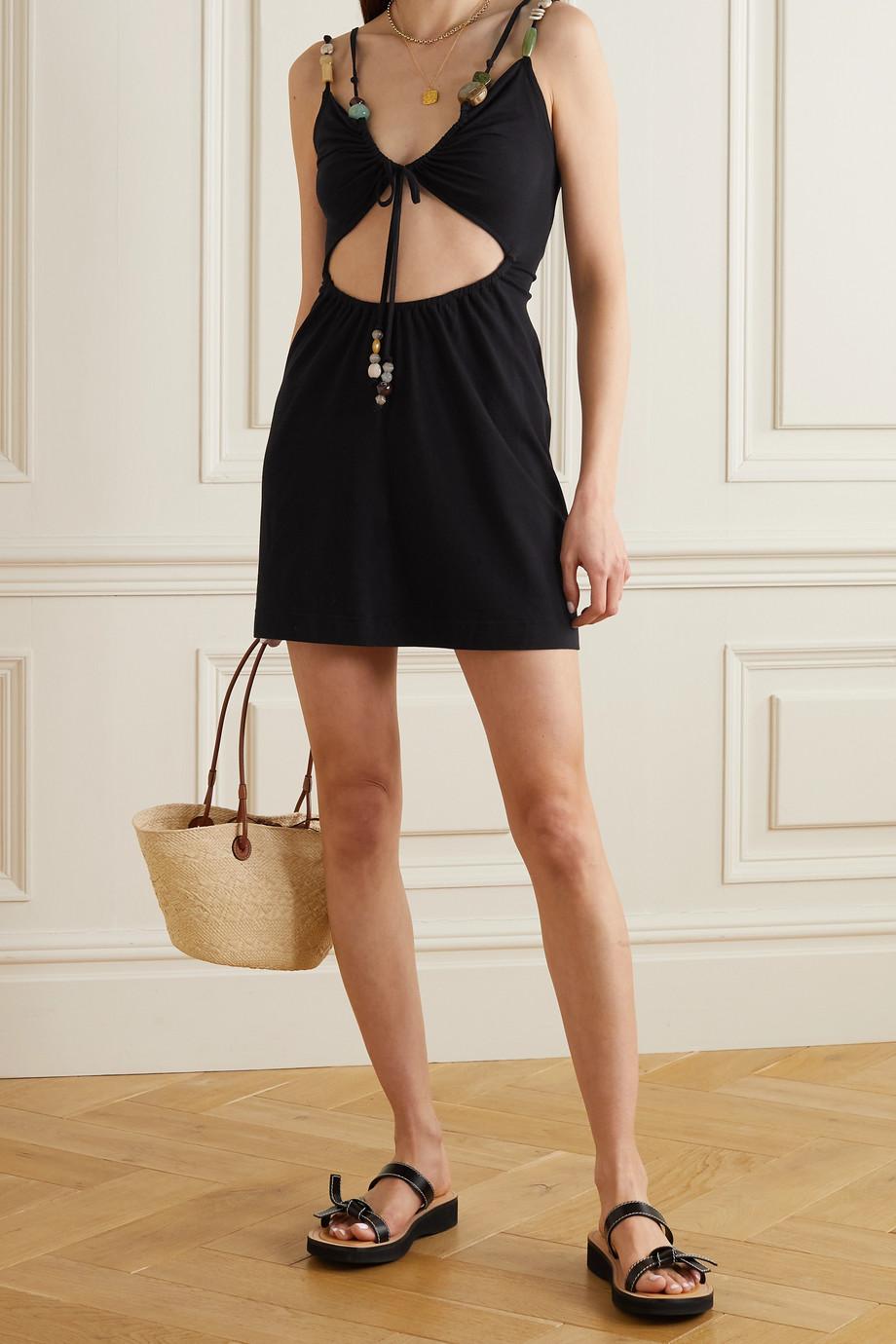 Loewe Verziertes Minikleid aus Stretch-Jersey
