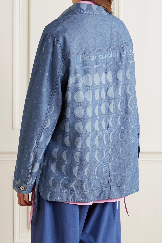 Loewe + Paula's Ibiza printed cotton-chambray jacket