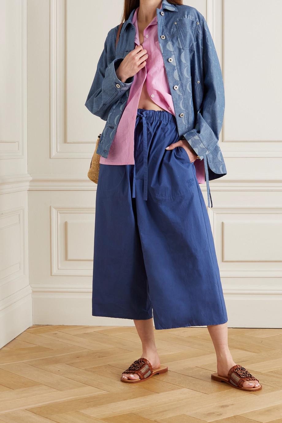 Loewe + Paula's Ibiza Jacke aus Baumwoll-Chambray mit Print