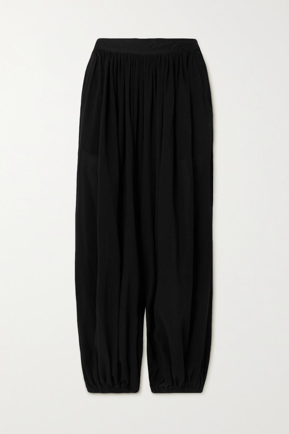 Loewe + Paula's Ibiza draped cotton-voile pants