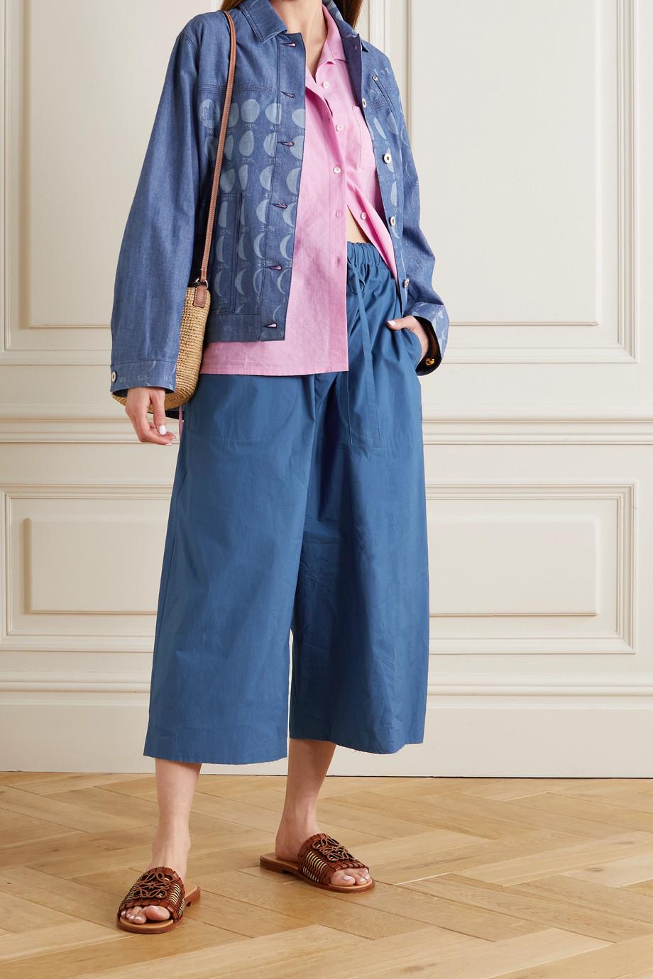 Loewe + Paula's Ibiza verkürzte Hose mit weitem Bein aus Baumwolle