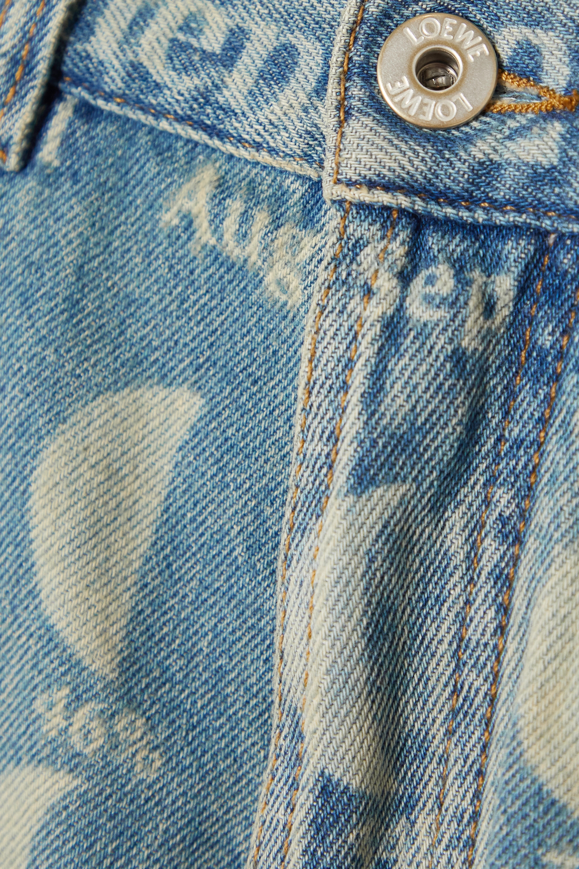 Loewe + Paula's Ibiza distressed printed denim shorts