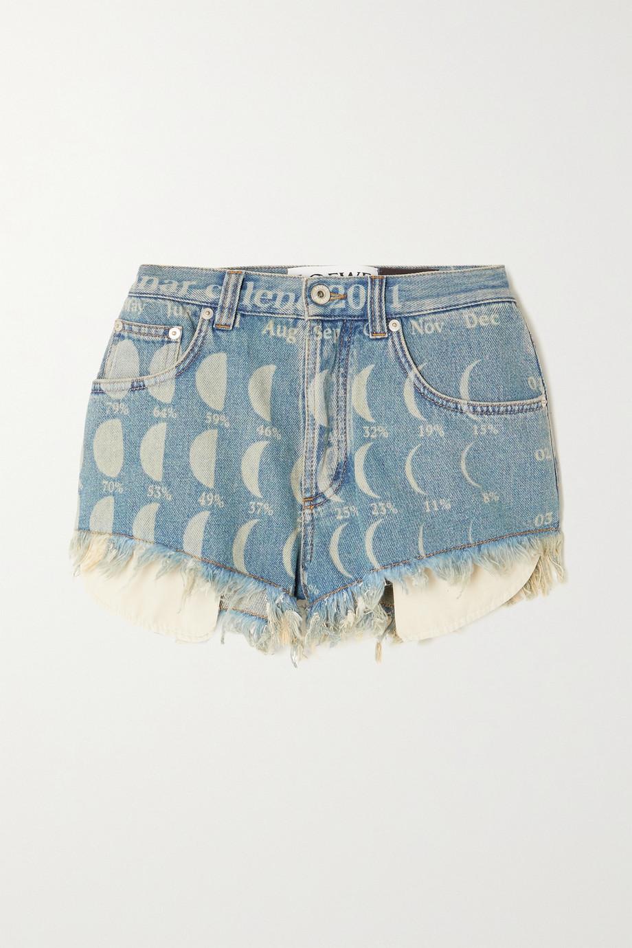 Loewe Short en jean effet vieilli imprimé x Paula's Ibiza