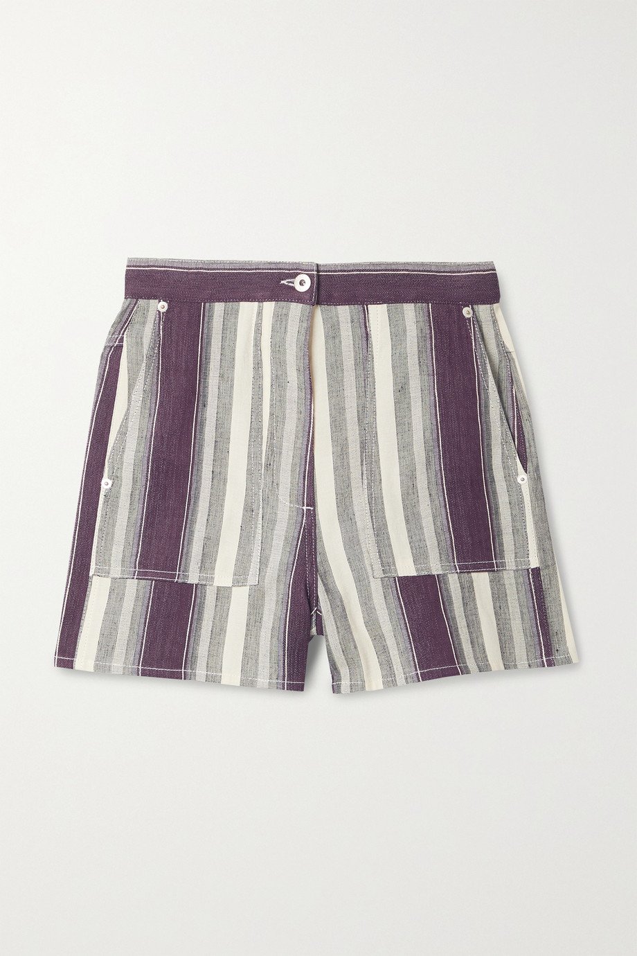 Loewe Short en lin et coton mélangés à rayures x Paula's Ibiza