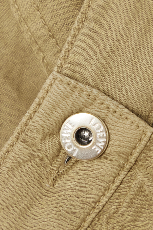 Loewe + Paula's Ibiza linen and cotton-blend shorts