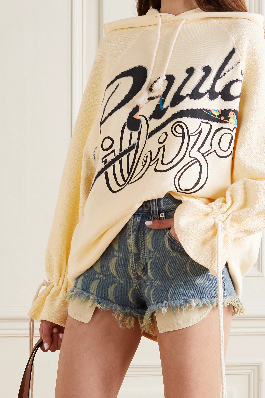Loewe + Paula's Ibiza oversized printed French cotton-terry and jersey hoodie