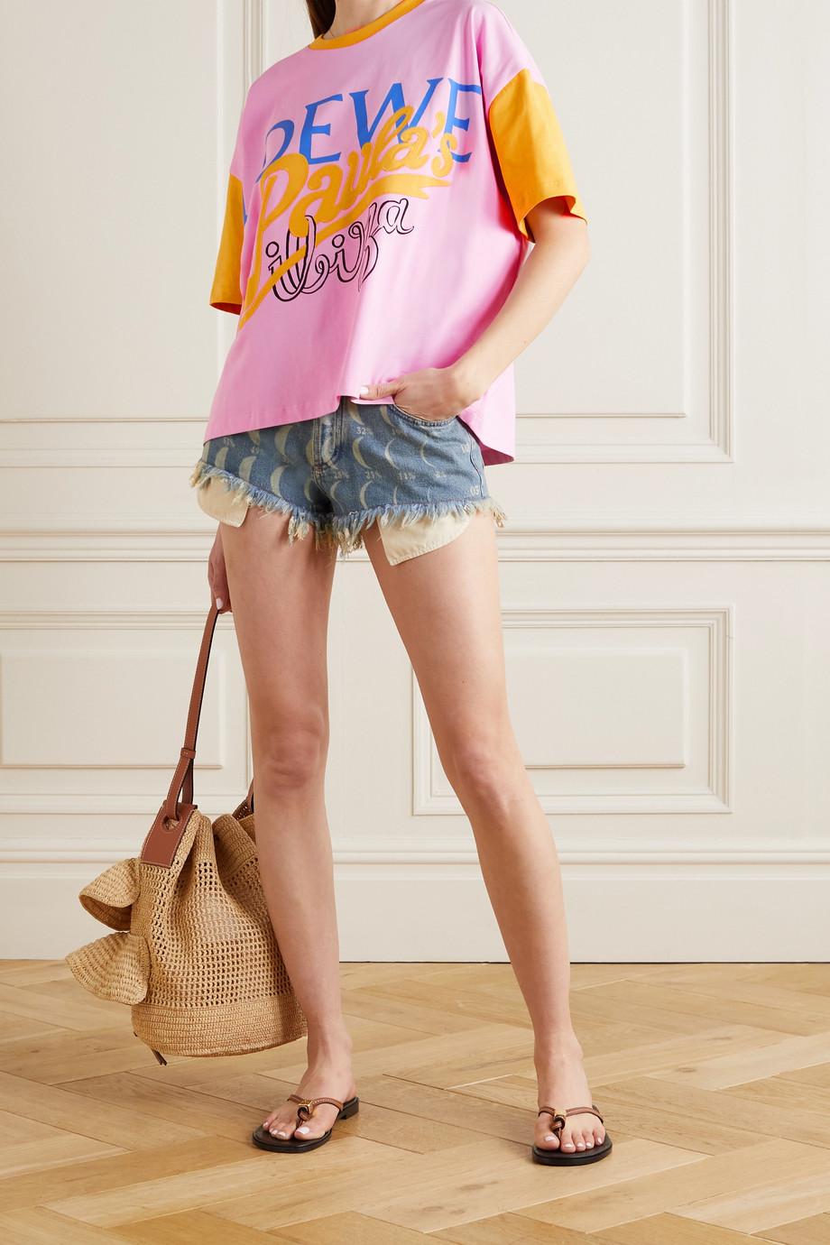 Loewe + Paula's Ibiza T-Shirt aus Baumwoll-Jersey mit Print und Applikation