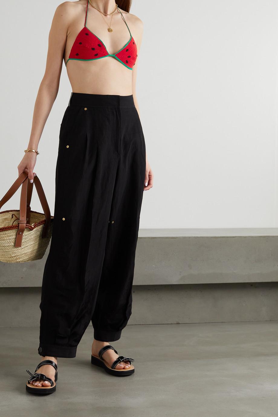 Loewe + Paula's Ibiza crocheted cotton triangle bikini top