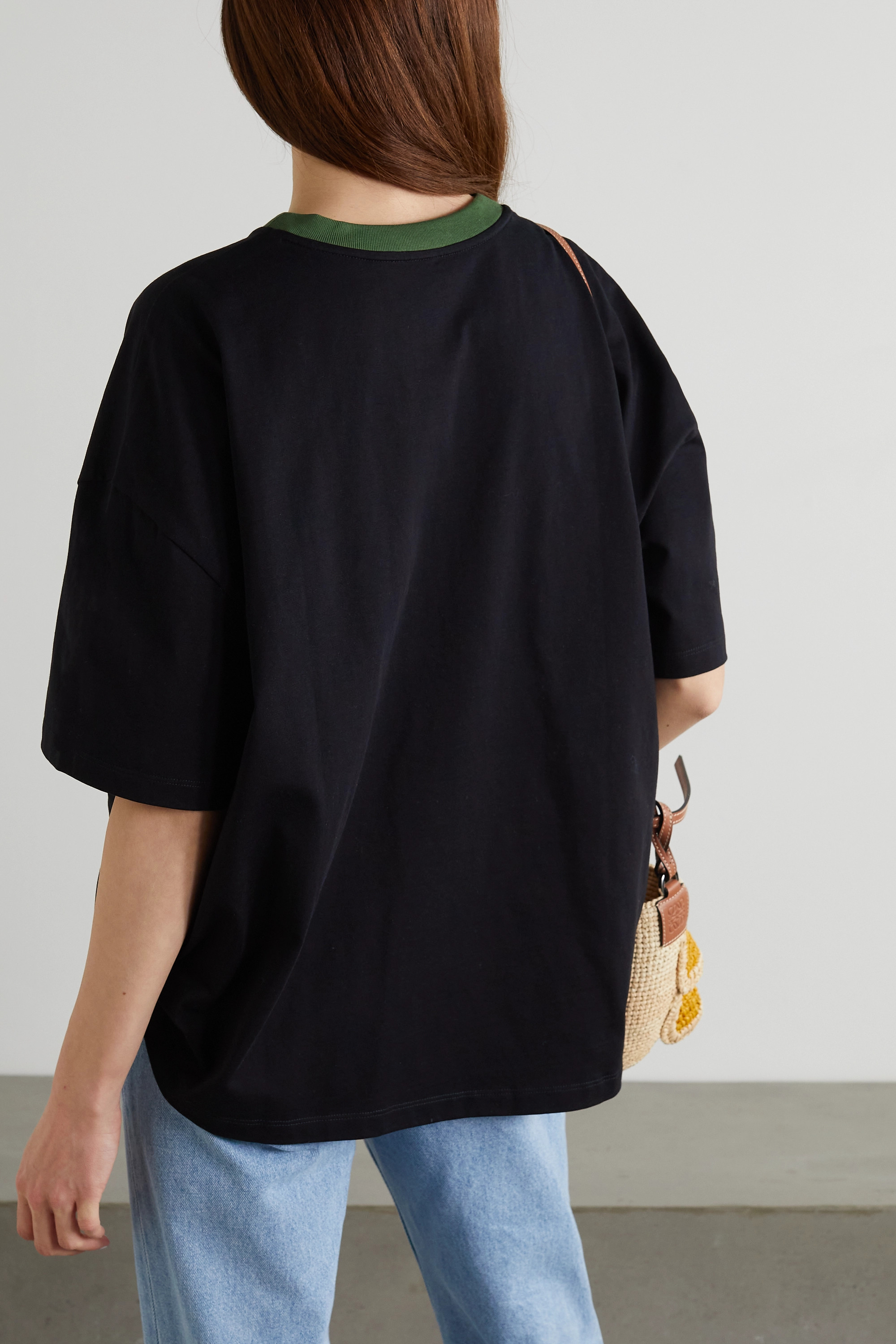 Loewe + Paula's Ibiza appliquéd printed cotton-jersey t-shirt