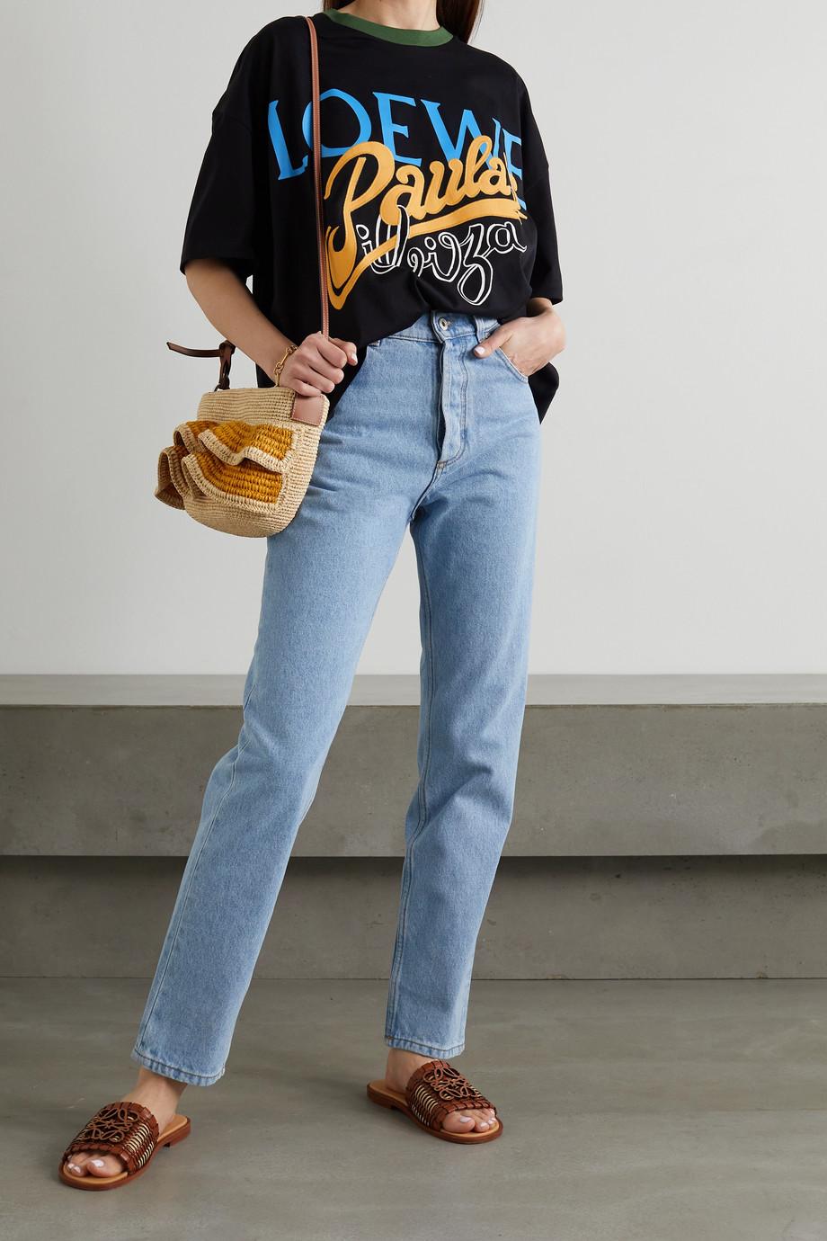 Loewe T-shirt en jersey de coton imprimé à appliqués x Paula's Ibiza