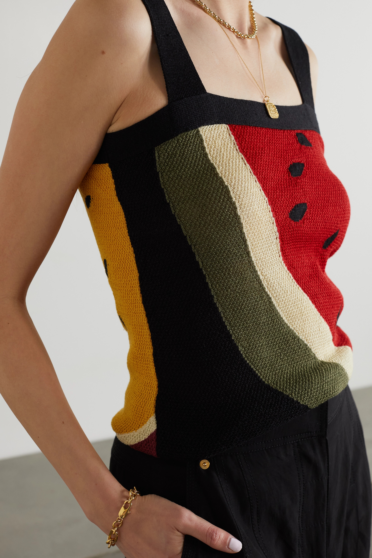 Loewe + Paula's Ibiza intarsia linen tank