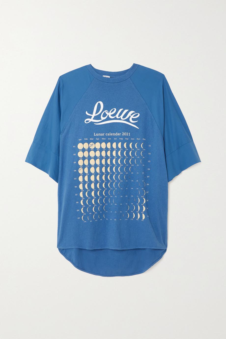 Loewe T-shirt oversize en jersey de coton et de chanvre mélangés imprimé x Paula's Ibiza