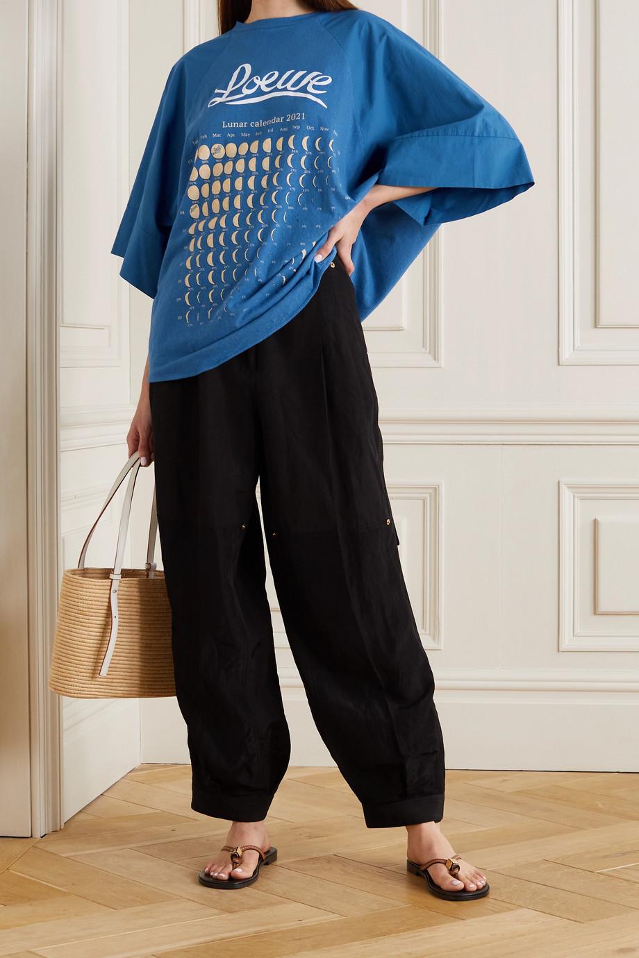 Loewe + Paula's Ibiza Oversized-T-Shirt aus Jersey aus einer Baumwoll-Hanfmischung mit Print