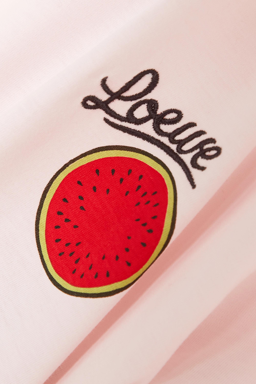 Loewe + Paula's Ibiza embroidered printed cotton-jersey T-shirt