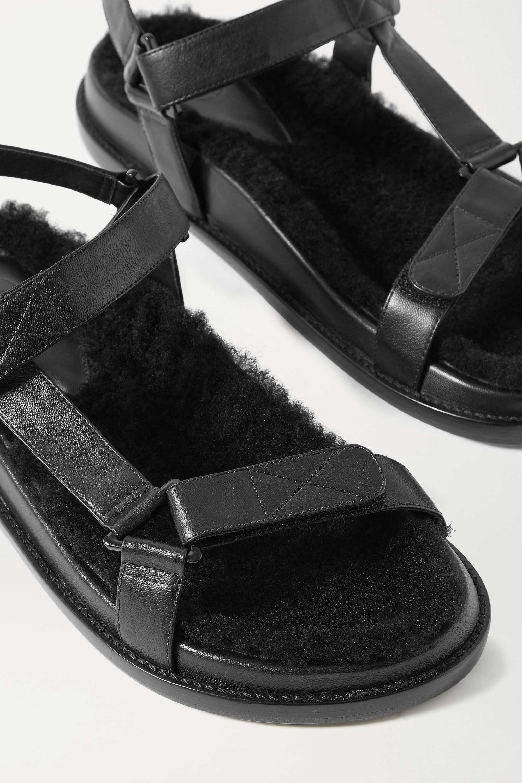 Porte & Paire Sandalen aus Leder mit Shearling-Futter
