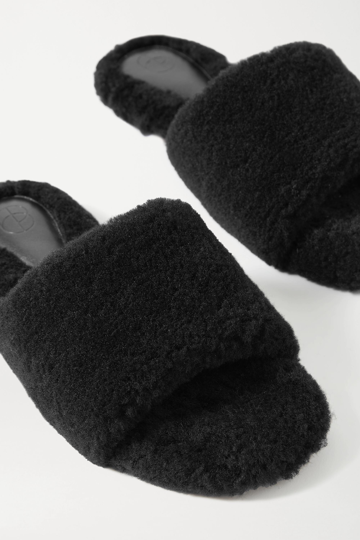 Porte & Paire Shearling slides