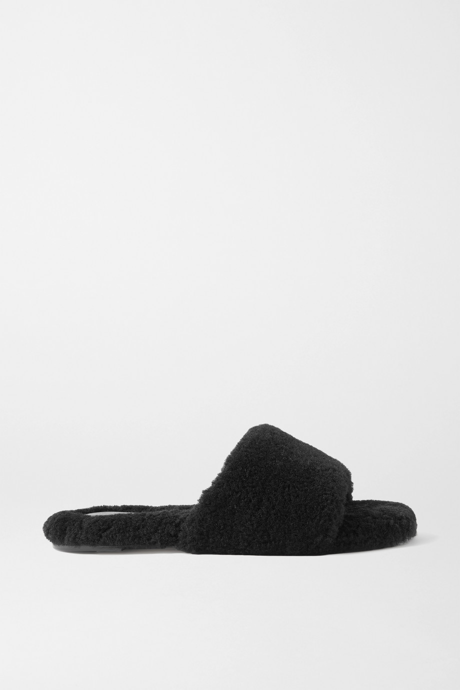 Porte & Paire Shearling slides