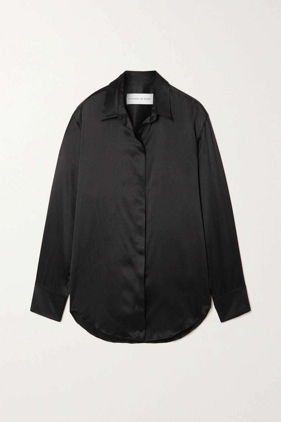 Michael Lo Sordo Boy silk-satin shirt