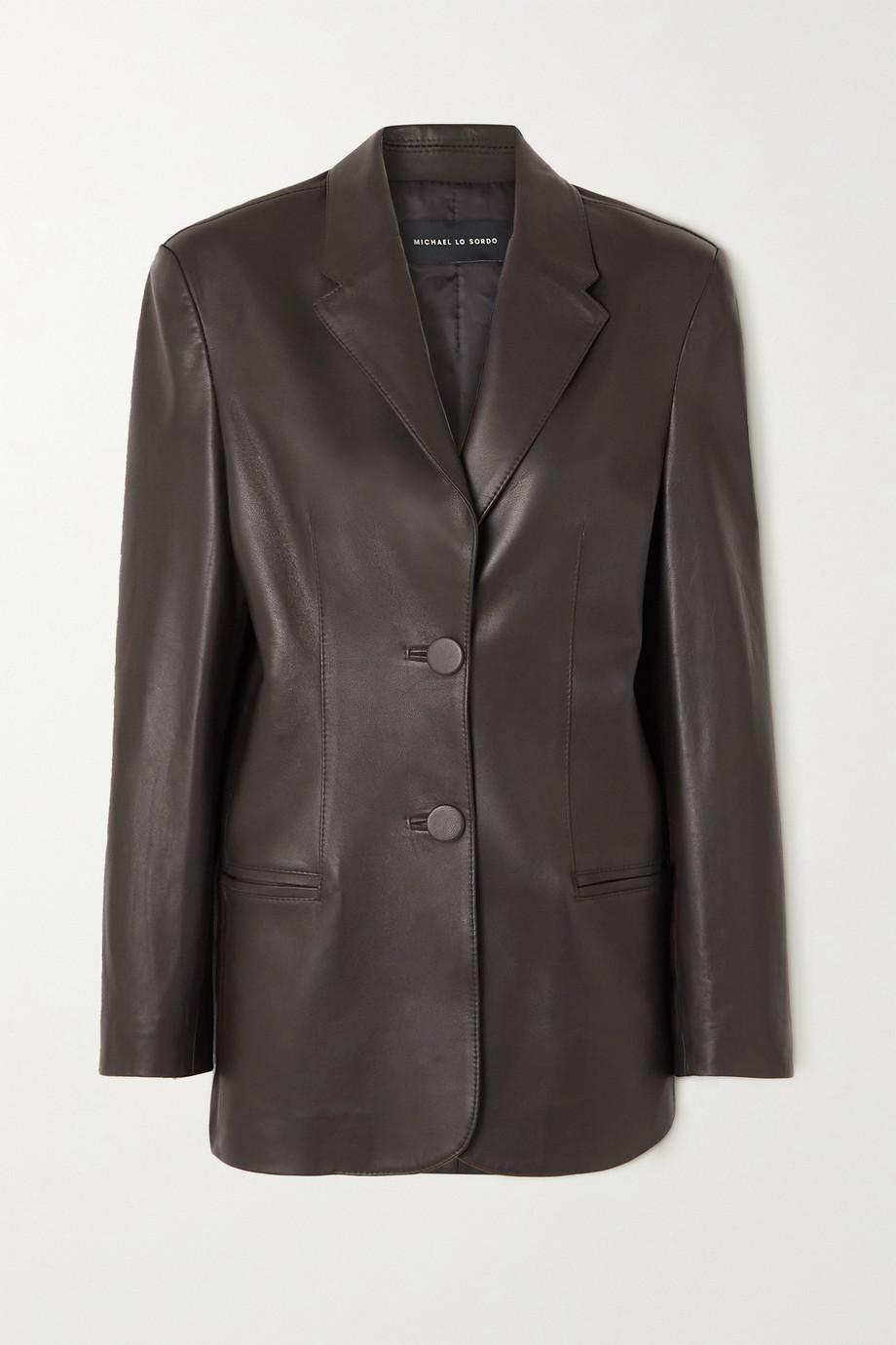 Michael Lo Sordo Boy leather blazer