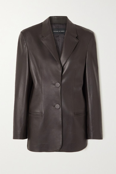 Michael Lo Sordo - Boy Leather Blazer - Brown