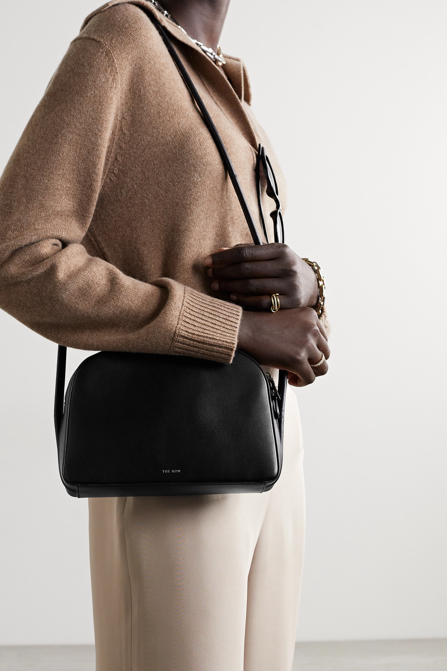 The Row Single Mignon leather shoulder bag