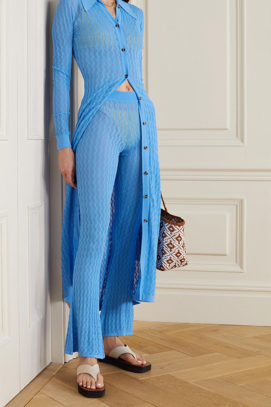 Dodo Bar Or Sophia pointelle-knit flared pants