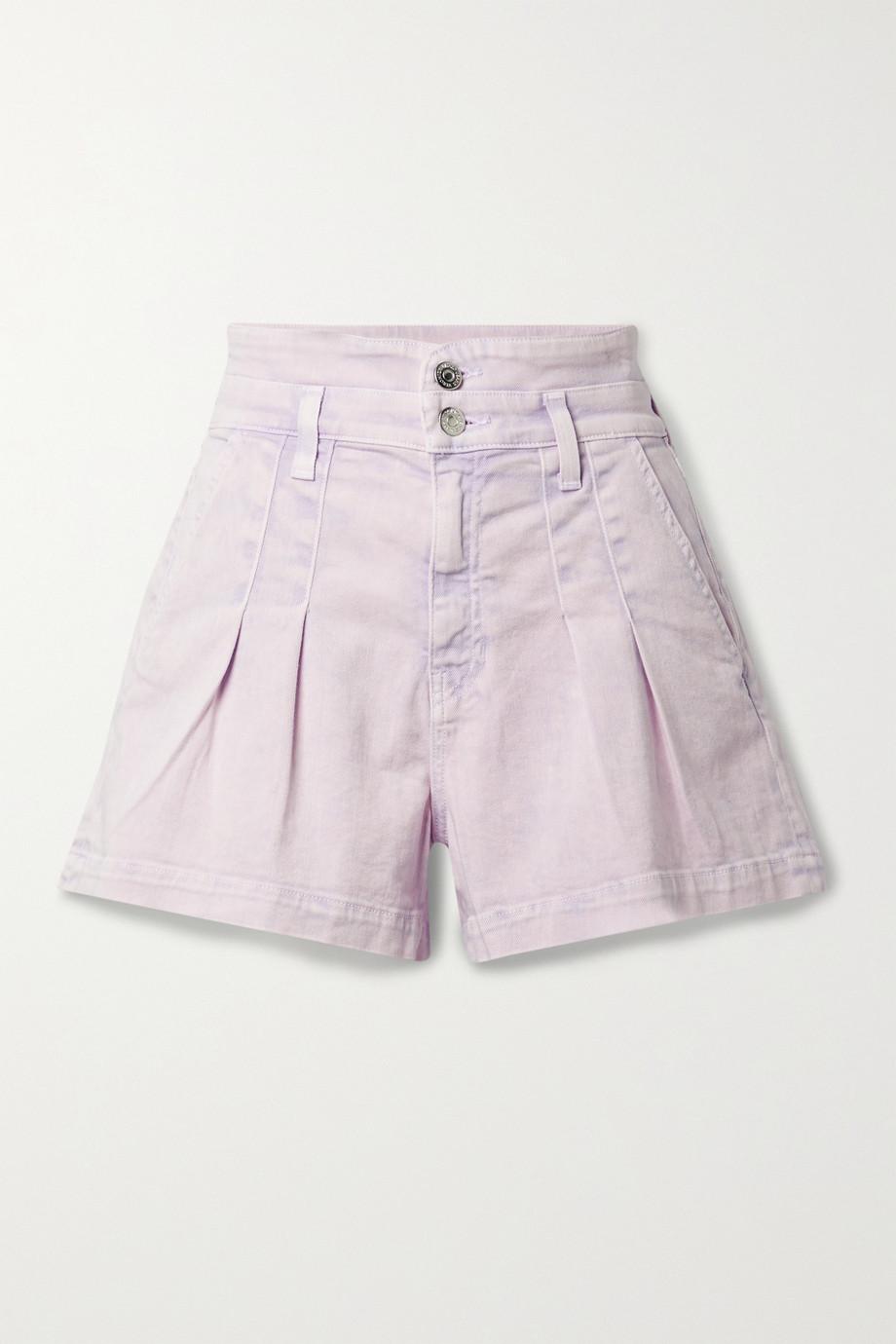 Veronica Beard Short en jean à plis Jaylen