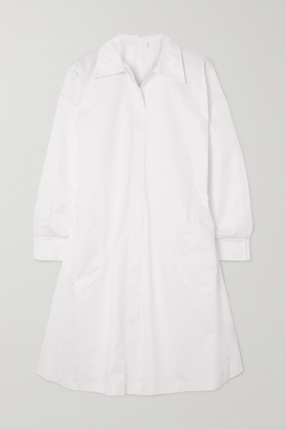 Norma Kamali Belted cotton-poplin shirt dress