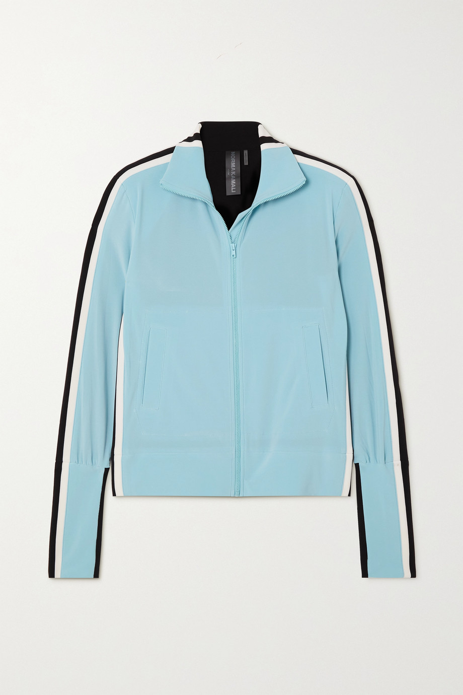 Norma Kamali Color-block stretch-jersey track jacket