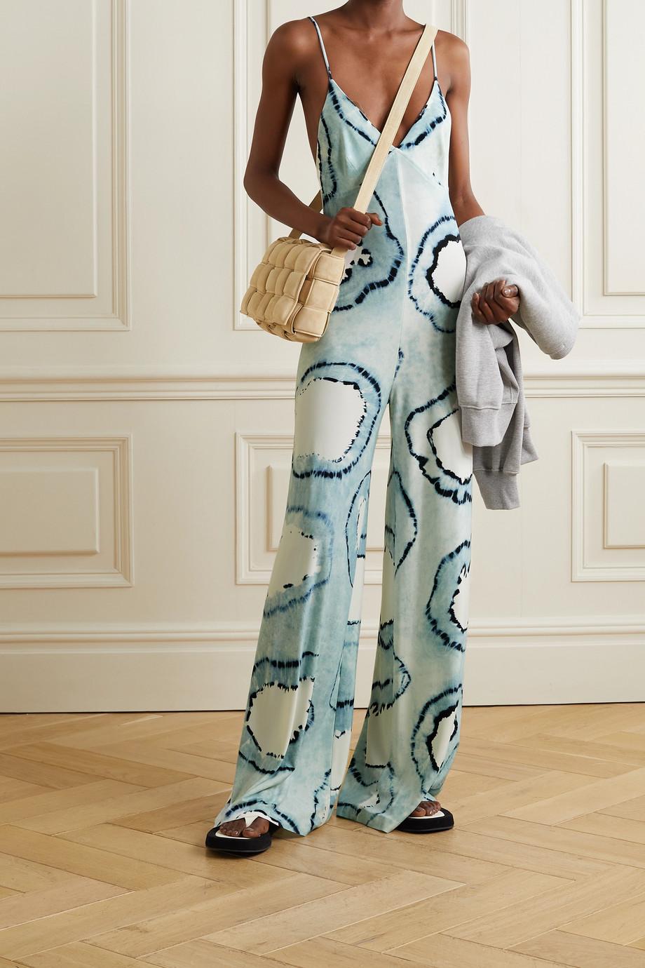 Norma Kamali Combi-pantalon en jersey stretch tie & dye