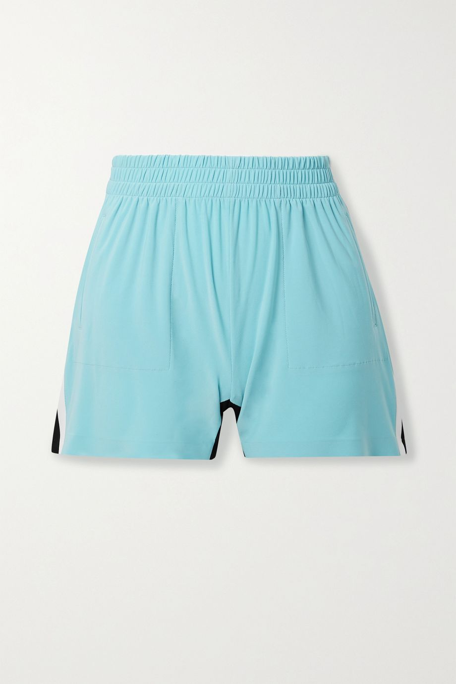 Norma Kamali Color-block stretch-jersey shorts